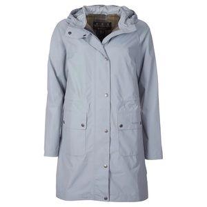Barbour Shaw waterproof gray raincoat jacket